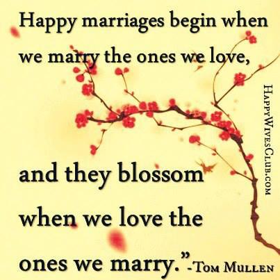 Happy Marriages Begin