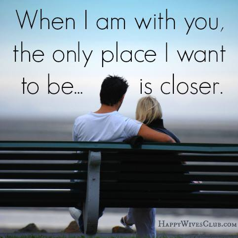 i am happy being with you