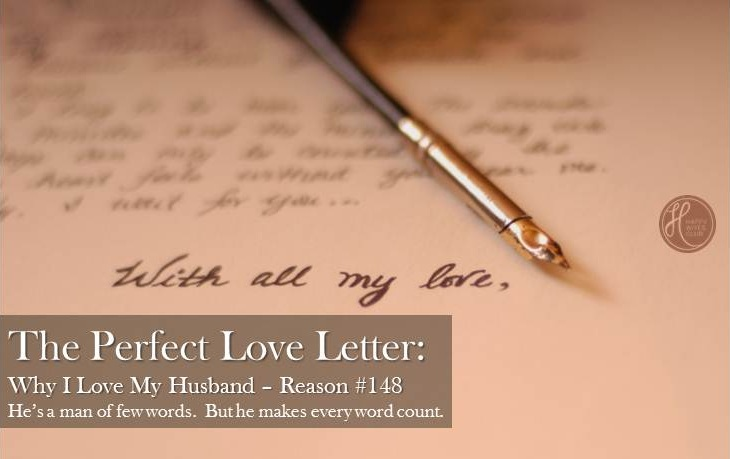 The Perfect Love Letter  Link Up  Happy Wives Club