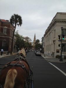Charleston via Horse-drawn carriage.
