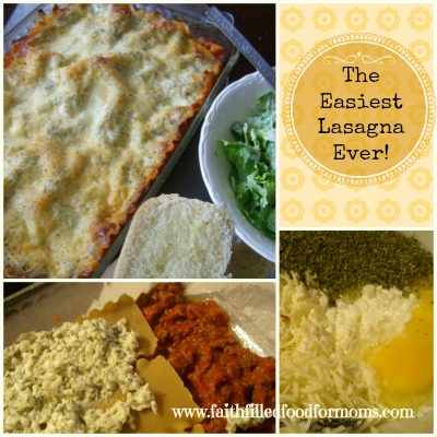 The Easiest Lasagna Ever!
