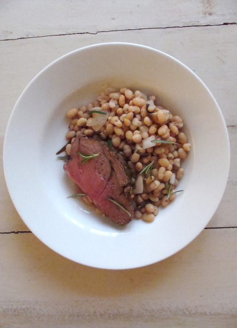 Spring Lamb with White Beans