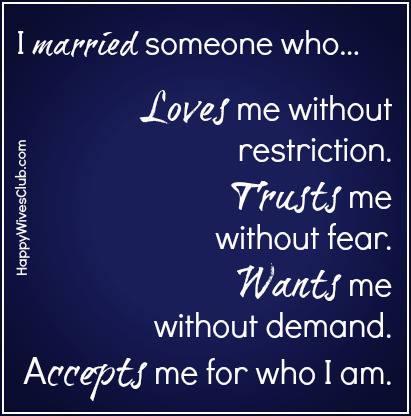 I Married Someone Who…