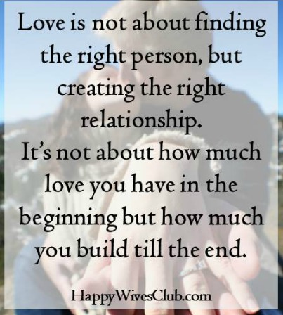 It's All About Creating the Right Relationship