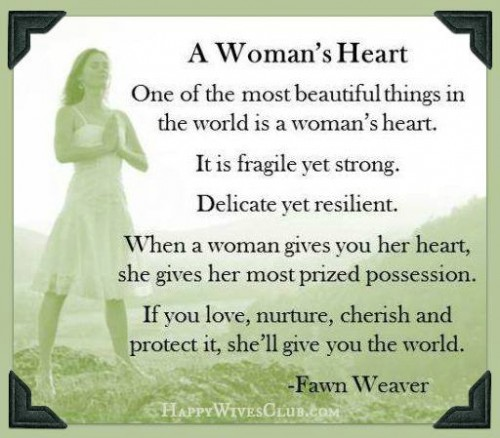A Woman's Heart | Happy Wives ...