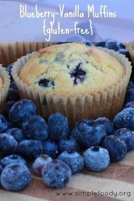Blueberry Vanilla Muffins {gluten-free}