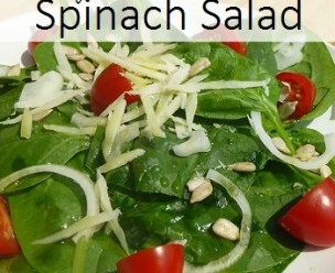 Healthy Frugal Spinach Salad 2