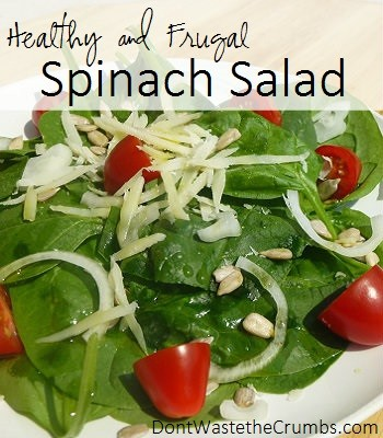 Healthy and Frugal Spinach Salad