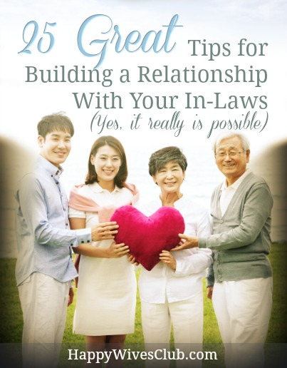 how to build a relationship with in laws