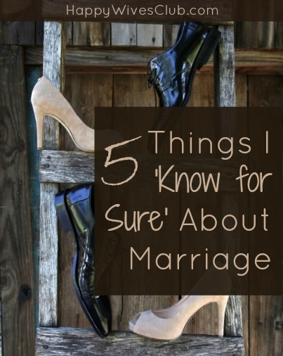 5 Things I 'Know for Sure' About Marriage