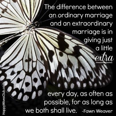 The Difference of An Extraordinary Marriage
