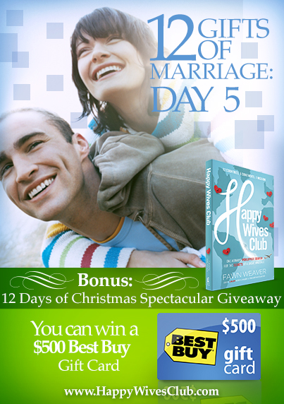 12 Gifts of Marriage: Day 5 {bonus: 12 Days of Christmas Giveaway}