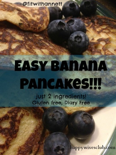 Easy Banana Pancakes - Just 2 ingredients