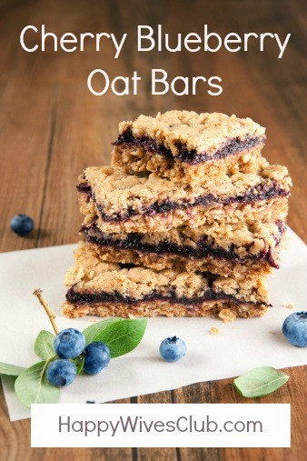 Cherry Blueberry Oat Bars