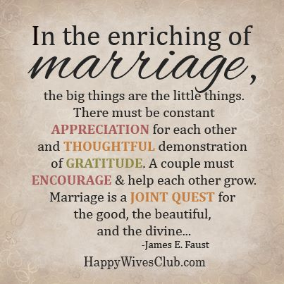 Enriching of Marriage