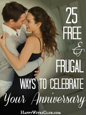 25 Free & Frugal Ways to Celebrate Your Anniversary - 300 x 401