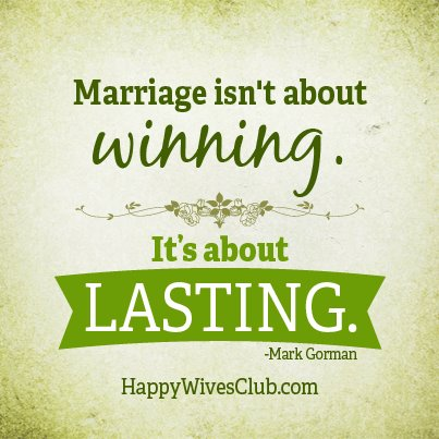 Marriage Isn't About Winning