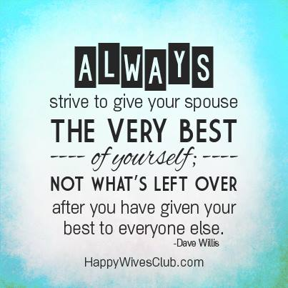 Give Your Spouse the Best