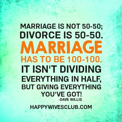 Marriage Isn't 50-50