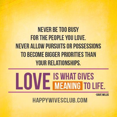 Love Gives Meaning