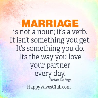 Marriage Is Not...