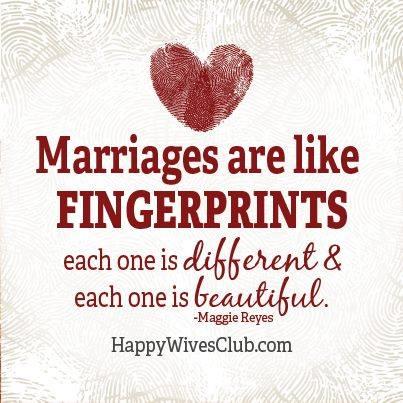 Marriages Are Like Fingerprints