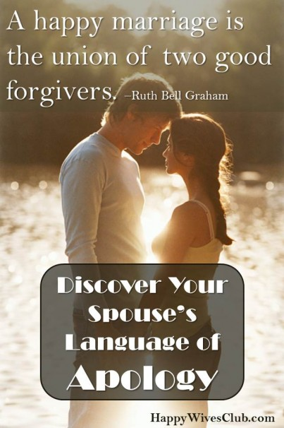 Discover Your Spouse's Language of Apology