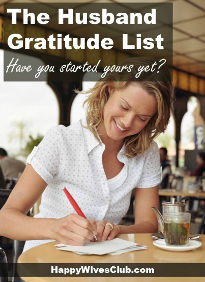 The Husband Gratitude List