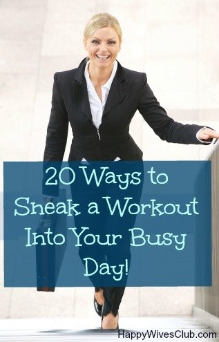 20 Ways to Sneak a Workout Into Your Busy Day