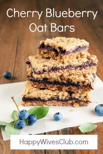 Cherry Blueberry Oat Bars